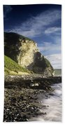 Rock Formations At The Coast Beach Towel