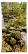 Rock Glen Falls Beach Towel by Cale Best