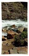 Rock Steps To Glen Alpine Creek Beach Towel