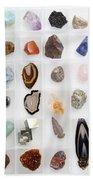 Rocks And Minerals Beach Towel