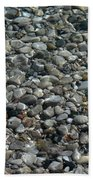 Rocks In Shallow Water Beach Towel