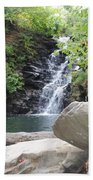 Rocks Of The Falls Beach Towel