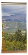 Rocky Mountain Picture Window Scenic View Beach Towel