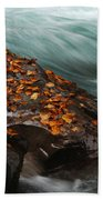 Rocky Mountain Stream Beach Towel