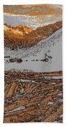 Rocky Mountain Winter Beach Towel
