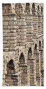 Roman Aqueduct Segovia Beach Towel
