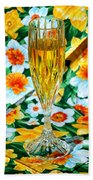 Romantic Gold Beach Towel