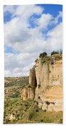 Ronda Cliffs In Andalusia Beach Towel