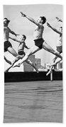 Rooftop Dancers In New York Beach Towel