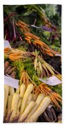 Root Vegetables At The Market Beach Towel