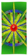 Rose At The Center Beach Towel