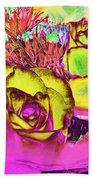 Rose Boquet Art Beach Towel