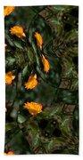 Rose Kaleidoscopic Mirror  Beach Towel