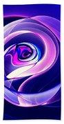 Rose Series - Violet-colored Beach Towel