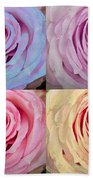 Rose Spiral Colorful Mix Beach Towel
