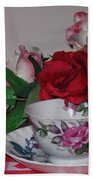Rose Tea Beach Towel
