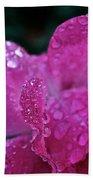 Rose Water Beads Beach Towel