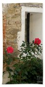 Roses And Antiquity  Beach Towel