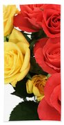 Roses Closeup Beach Towel
