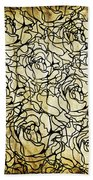 Roses Pattern Beach Towel