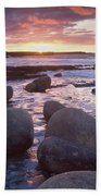 Roslee Castle, Easky, County Sligo Beach Towel