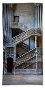 Rouen Cathedral Stairway Beach Towel