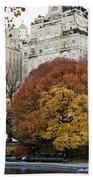 Round Autumn Trees Beach Towel