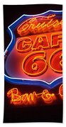 Route 66 Bar And Grill Beach Towel