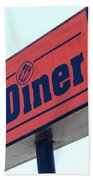 Route 66 Diner Sign Beach Towel