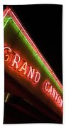 Route 66 Grand Canyon Neon Beach Towel