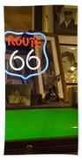 Route 66 Neon Sign 1 Beach Towel
