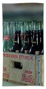 Route 66 Odell Il Gas Station Cases Of Pop Bottles Digital Art Beach Towel
