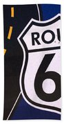 Route 66 Sign Winslow Arizona Beach Towel