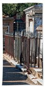 Row Of Tombs St Louis One Cemetery New Orleans Beach Towel