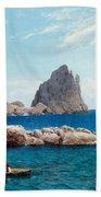 Rowing Off The Rocks Beach Towel