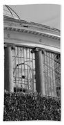 Royal Conservatory In Brussels - Black And White Beach Towel