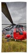 Royal Navy Sar Sea King Xz920 Glencoe Beach Towel