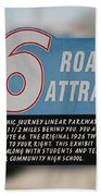 Rt 66 Towanda Il Parkway Signage Beach Towel