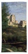 Ruins Of The Chateau De Pierrefonds Beach Towel