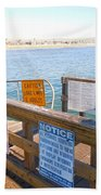 Rules Of The Pier  Beach Towel