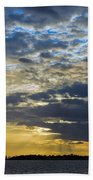 Running Out At Sunset Beach Towel
