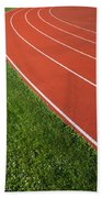 Running Track Beach Towel
