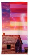 Rural Rustic America Storm Beach Towel