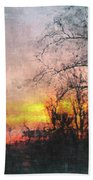 Rural Sunset  Art Beach Towel