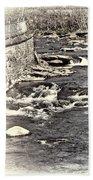 Rushing Water Cream Beach Towel