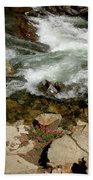 Rushing Water Glen Alpine Creek  Beach Towel