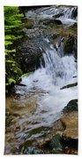 Rushing Water On Mt Spokane Beach Sheet