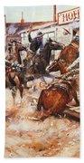 Russell Cowboy Art, 1909 Beach Towel