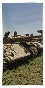 Russian T-62 Main Battle Tanks Rest Beach Towel