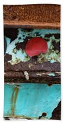 Rusted Blue Taillight Beach Towel